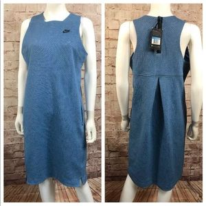 Nike Sportswear Tech Fleece Dress MEDIUM Blue